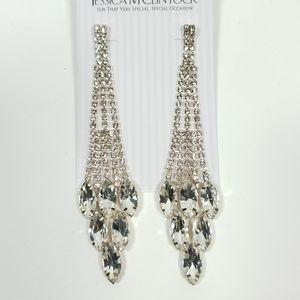 Jessica Mcclintock Rhinestone Chandelier Earrings